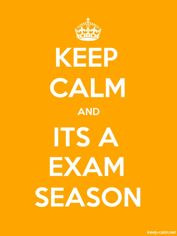 KEEP CALM AND ITS A EXAM SEASON - white/orange - Default (600x800)