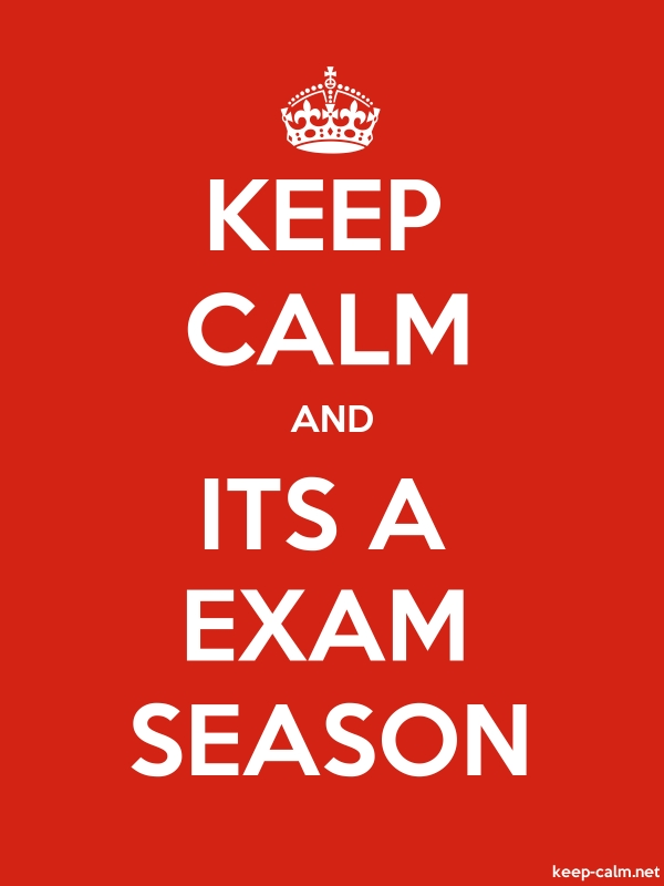 KEEP CALM AND ITS A EXAM SEASON - white/red - Default (600x800)