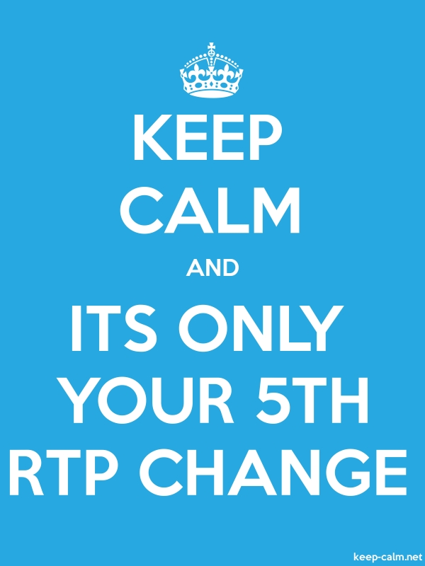 KEEP CALM AND ITS ONLY YOUR 5TH RTP CHANGE - white/blue - Default (600x800)