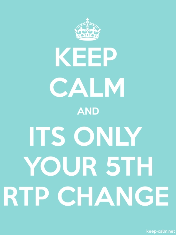 KEEP CALM AND ITS ONLY YOUR 5TH RTP CHANGE - white/lightblue - Default (600x800)