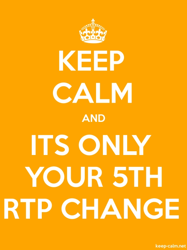 KEEP CALM AND ITS ONLY YOUR 5TH RTP CHANGE - white/orange - Default (600x800)