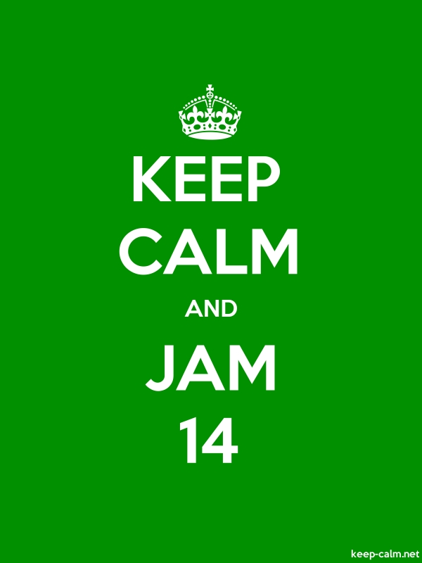 KEEP CALM AND JAM 14 - white/green - Default (600x800)