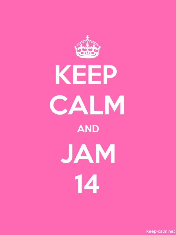 KEEP CALM AND JAM 14 - white/pink - Default (600x800)