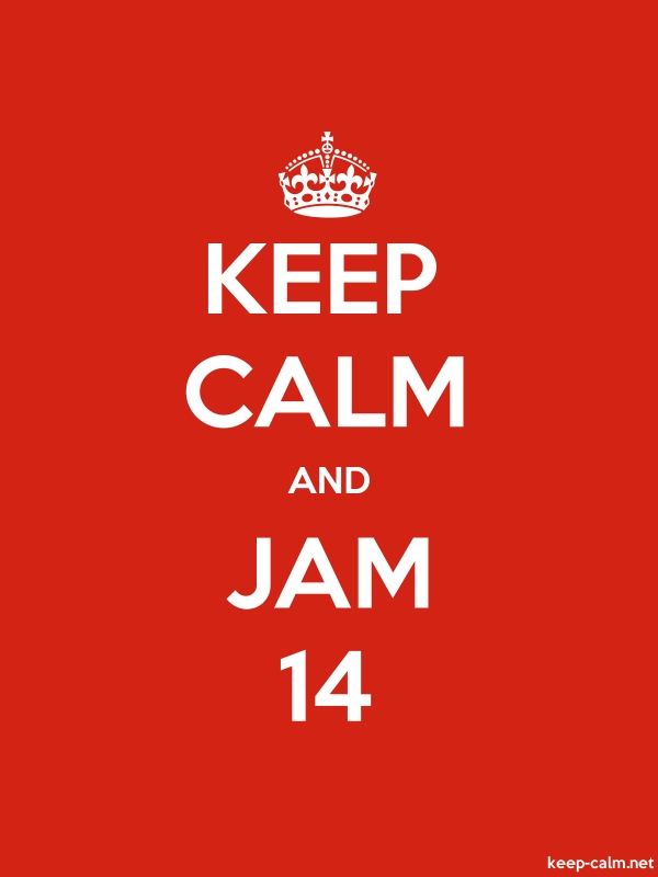 KEEP CALM AND JAM 14 - white/red - Default (600x800)
