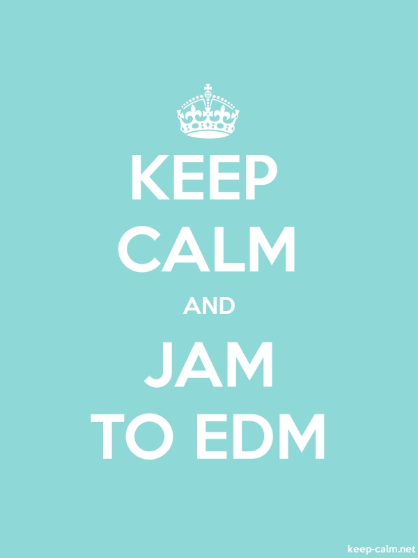 KEEP CALM AND JAM TO EDM - white/lightblue - Default (600x800)