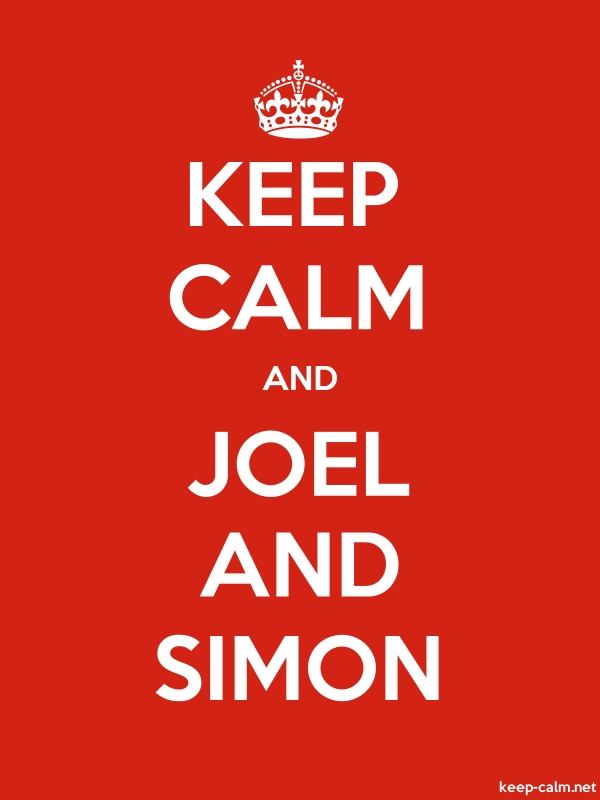 KEEP CALM AND JOEL AND SIMON - white/red - Default (600x800)
