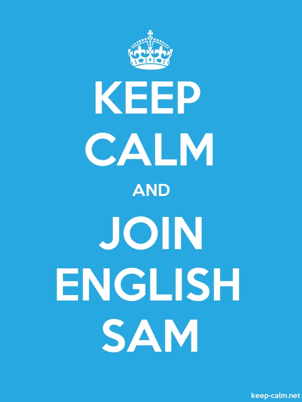 KEEP CALM AND JOIN ENGLISH SAM - white/blue - Default (600x800)