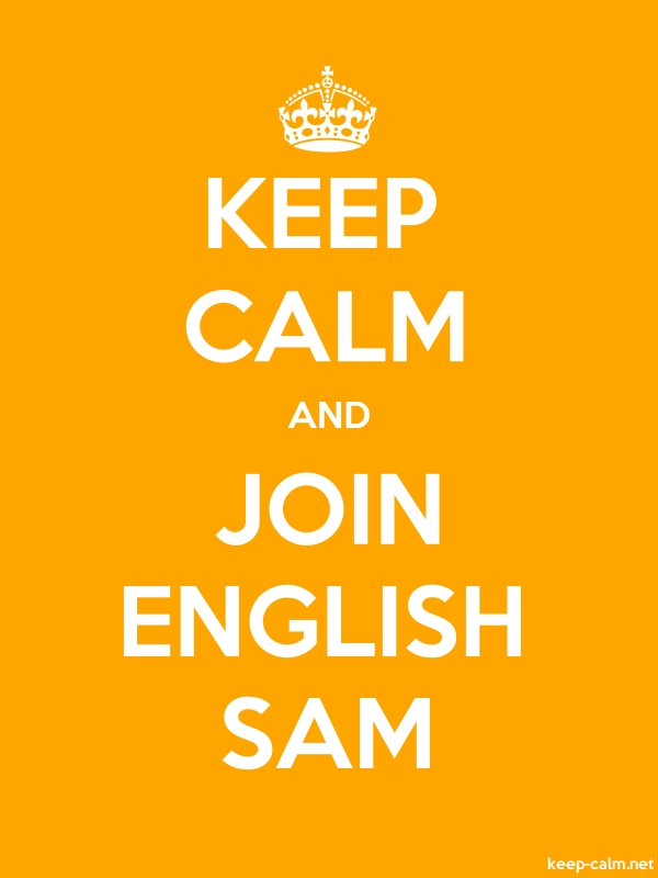 KEEP CALM AND JOIN ENGLISH SAM - white/orange - Default (600x800)