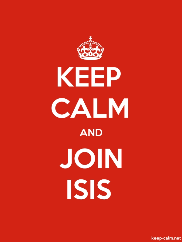 KEEP CALM AND JOIN ISIS - white/red - Default (600x800)