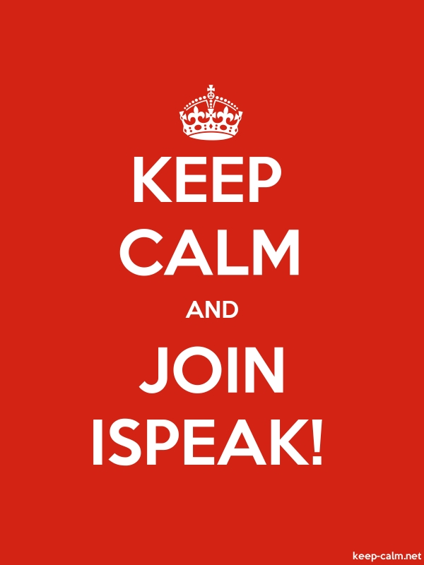 KEEP CALM AND JOIN ISPEAK! - white/red - Default (600x800)