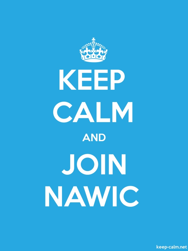 KEEP CALM AND JOIN NAWIC - white/blue - Default (600x800)