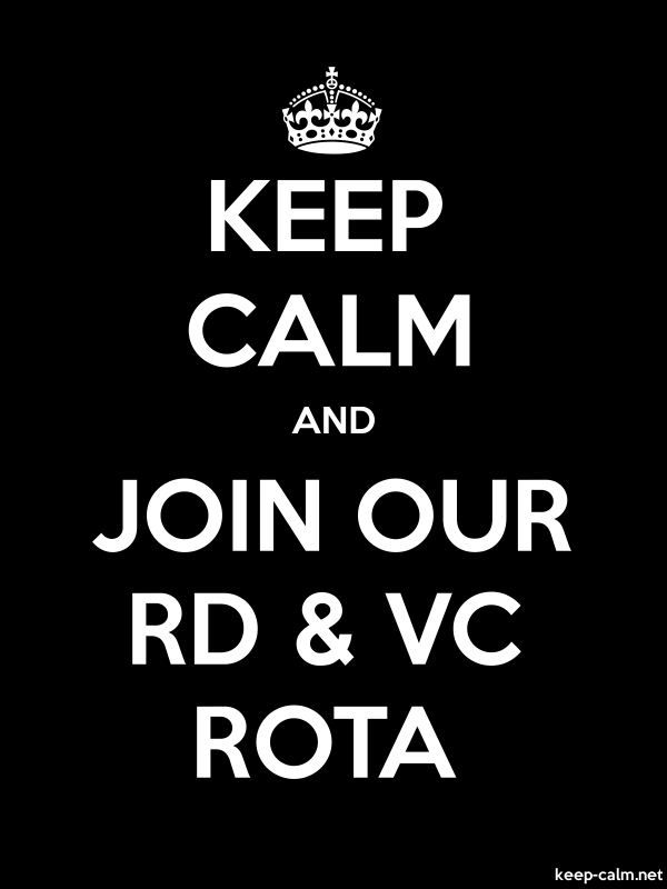 KEEP CALM AND JOIN OUR RD & VC ROTA - white/black - Default (600x800)