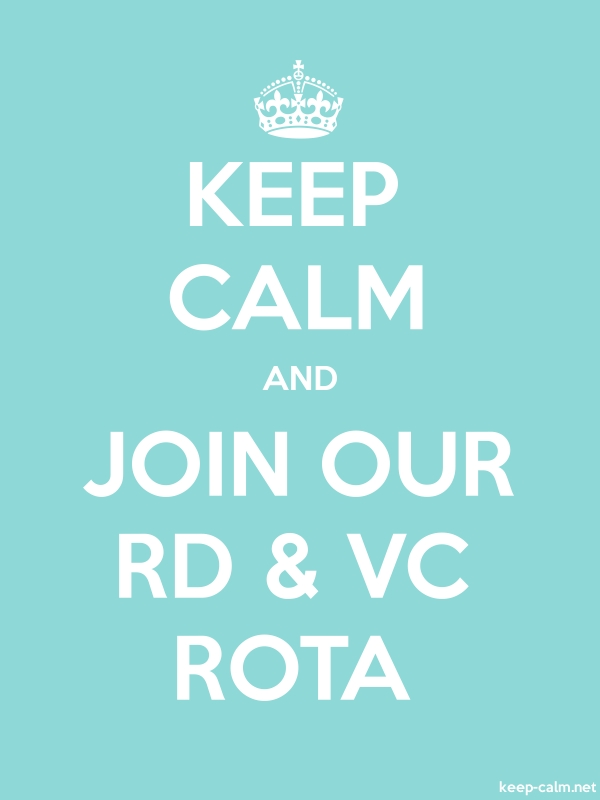 KEEP CALM AND JOIN OUR RD & VC ROTA - white/lightblue - Default (600x800)