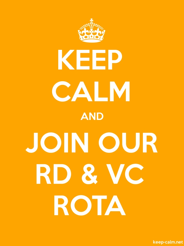 KEEP CALM AND JOIN OUR RD & VC ROTA - white/orange - Default (600x800)