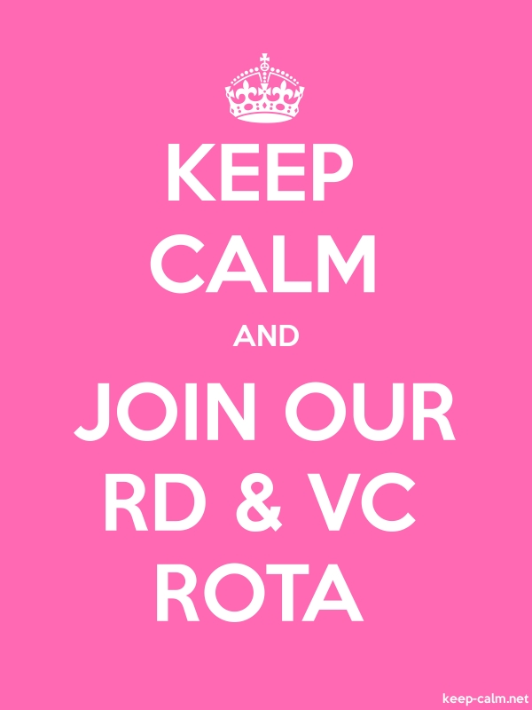 KEEP CALM AND JOIN OUR RD & VC ROTA - white/pink - Default (600x800)