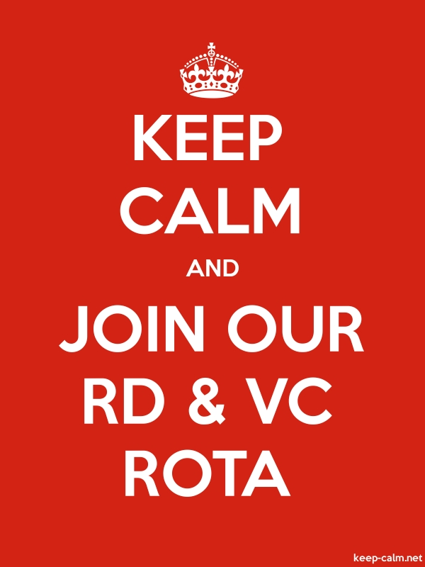 KEEP CALM AND JOIN OUR RD & VC ROTA - white/red - Default (600x800)