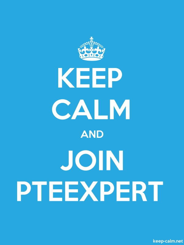 KEEP CALM AND JOIN PTEEXPERT - white/blue - Default (600x800)