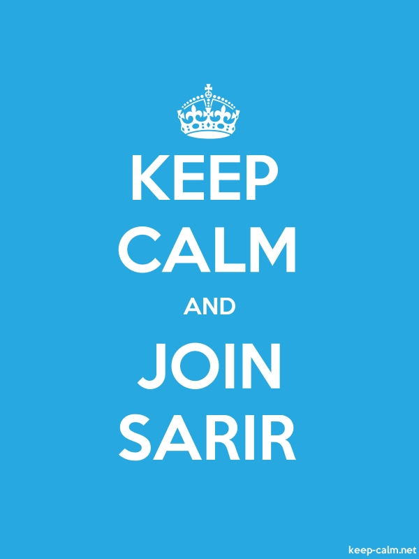 KEEP CALM AND JOIN SARIR - white/blue - Default (600x800)