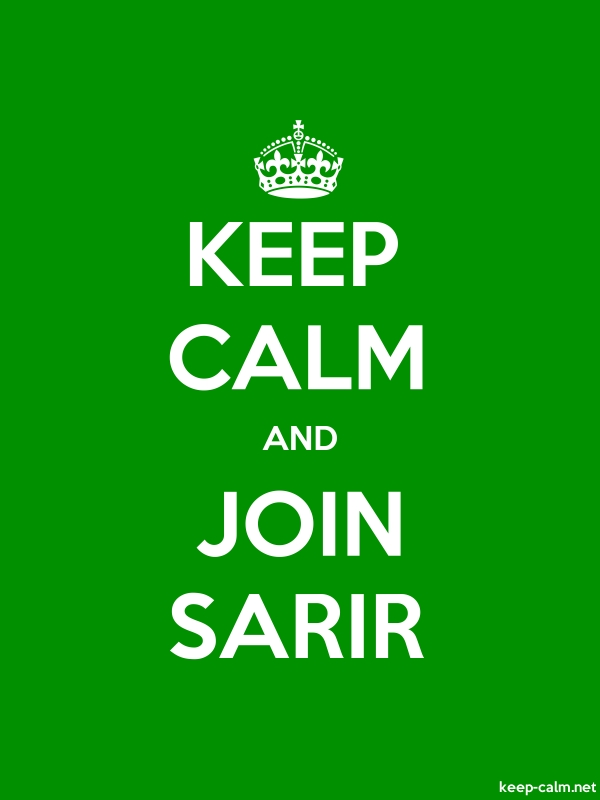 KEEP CALM AND JOIN SARIR - white/green - Default (600x800)
