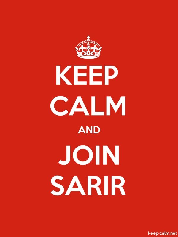 KEEP CALM AND JOIN SARIR - white/red - Default (600x800)
