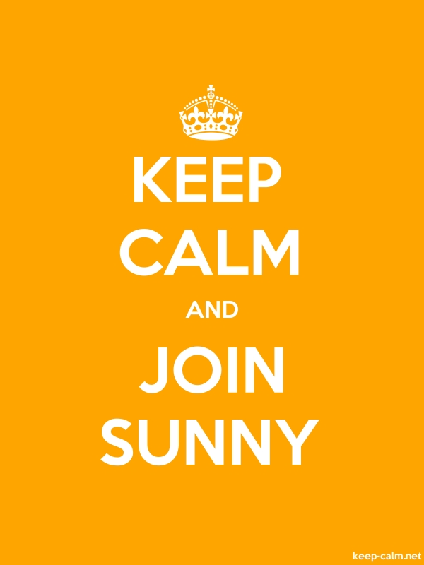 KEEP CALM AND JOIN SUNNY - white/orange - Default (600x800)