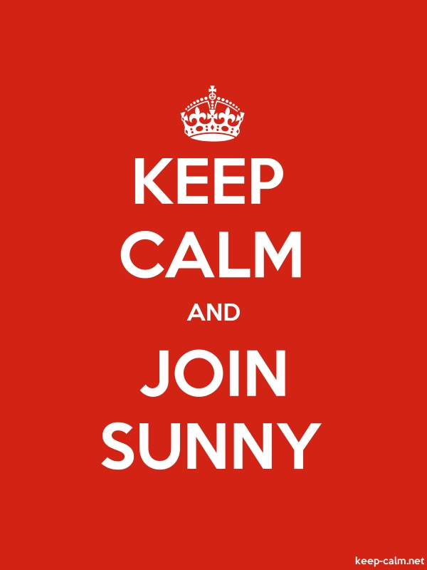 KEEP CALM AND JOIN SUNNY - white/red - Default (600x800)