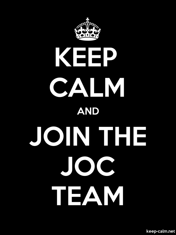 KEEP CALM AND JOIN THE JOC TEAM - white/black - Default (600x800)