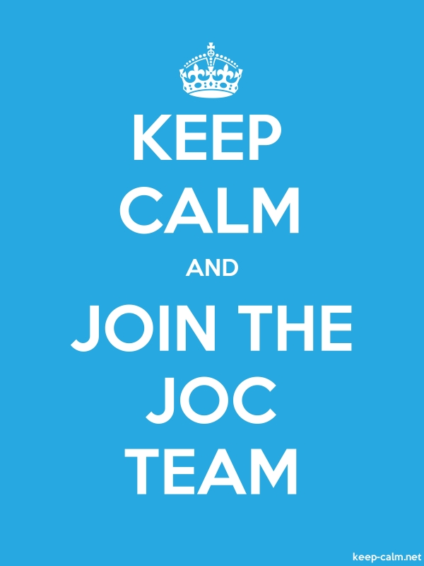 KEEP CALM AND JOIN THE JOC TEAM - white/blue - Default (600x800)