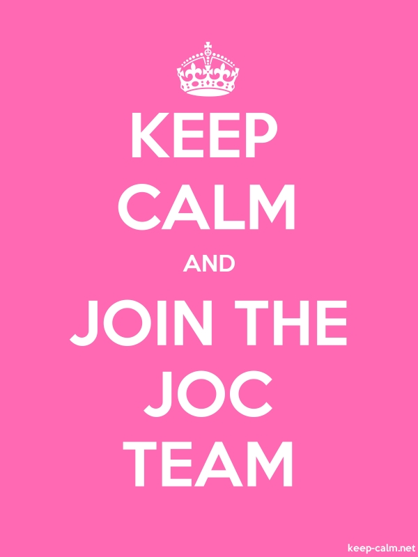 KEEP CALM AND JOIN THE JOC TEAM - white/pink - Default (600x800)