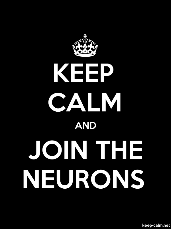 KEEP CALM AND JOIN THE NEURONS - white/black - Default (600x800)