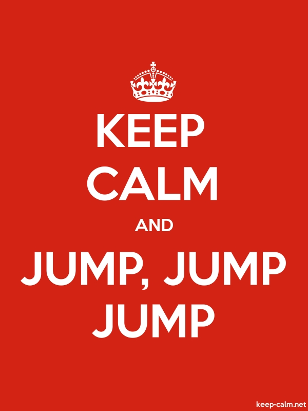 KEEP CALM AND JUMP, JUMP JUMP - white/red - Default (600x800)