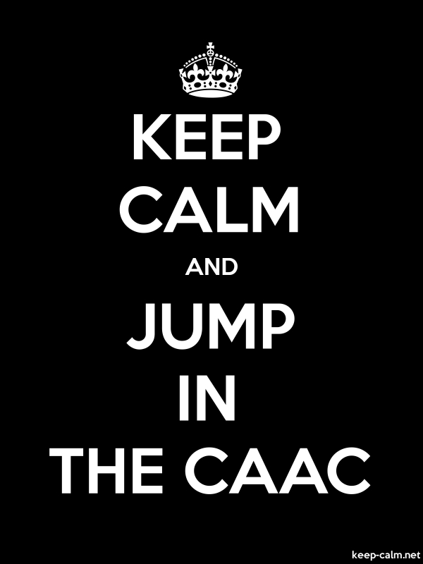 KEEP CALM AND JUMP IN THE CAAC - white/black - Default (600x800)