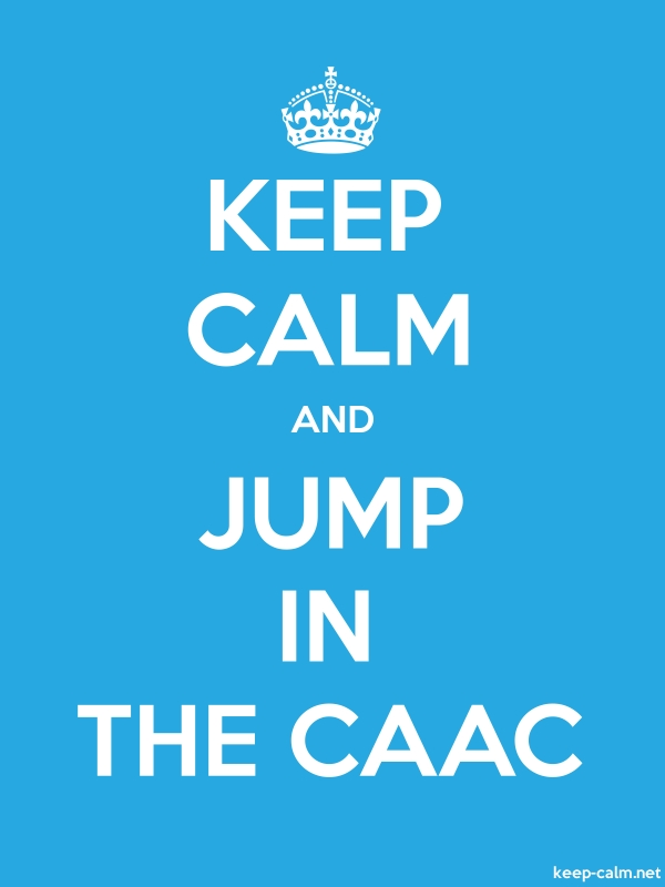 KEEP CALM AND JUMP IN THE CAAC - white/blue - Default (600x800)