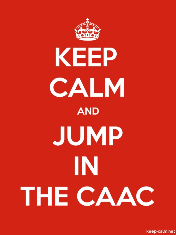 KEEP CALM AND JUMP IN THE CAAC - white/red - Default (600x800)