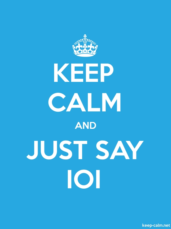 KEEP CALM AND JUST SAY IOI - white/blue - Default (600x800)