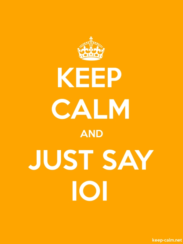 KEEP CALM AND JUST SAY IOI - white/orange - Default (600x800)