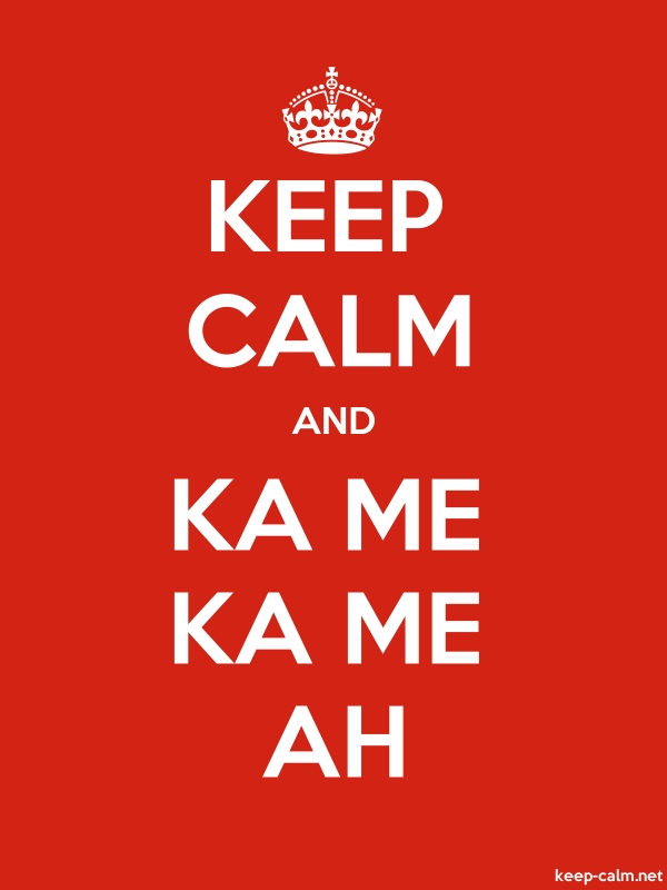 KEEP CALM AND KA ME KA ME AH - white/red - Default (600x800)