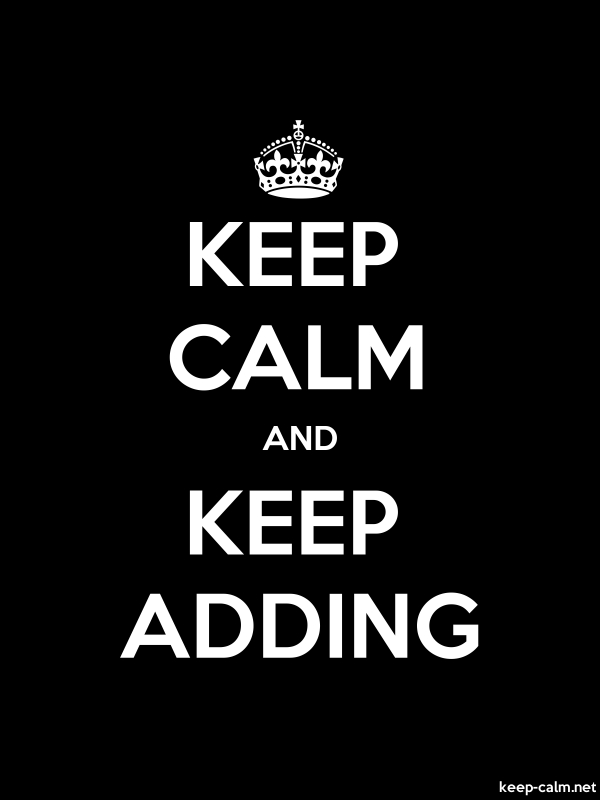 KEEP CALM AND KEEP ADDING - white/black - Default (600x800)