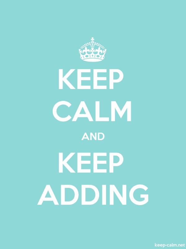 KEEP CALM AND KEEP ADDING - white/lightblue - Default (600x800)