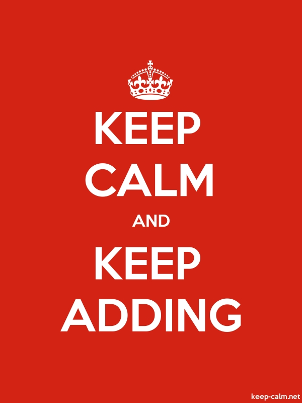 KEEP CALM AND KEEP ADDING - white/red - Default (600x800)