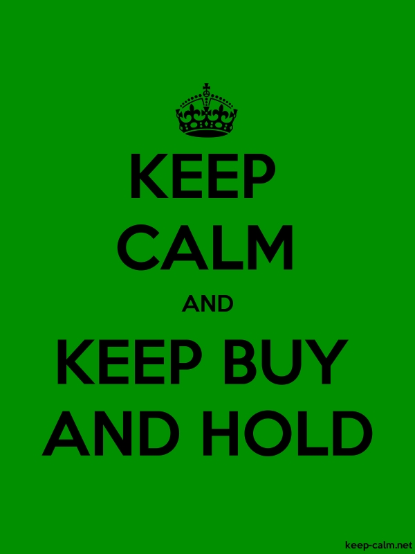 KEEP CALM AND KEEP BUY AND HOLD - black/green - Default (600x800)