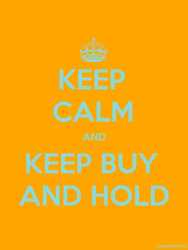 KEEP CALM AND KEEP BUY AND HOLD - lightblue/orange - Default (600x800)