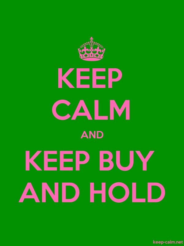 KEEP CALM AND KEEP BUY AND HOLD - pink/green - Default (600x800)
