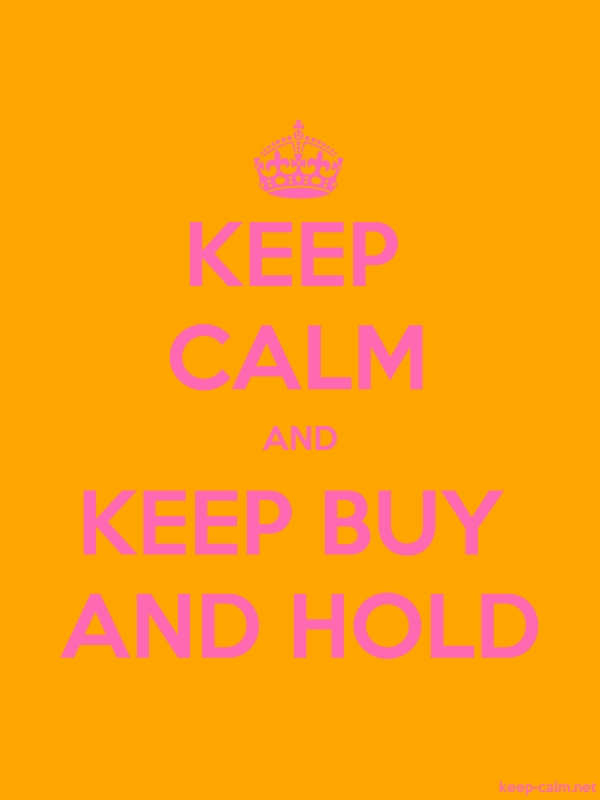 KEEP CALM AND KEEP BUY AND HOLD - pink/orange - Default (600x800)