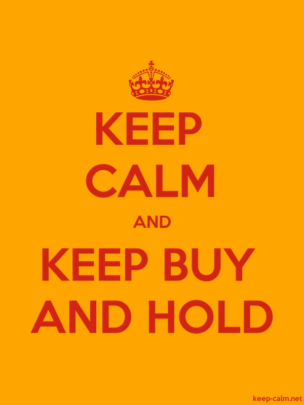 KEEP CALM AND KEEP BUY AND HOLD - red/orange - Default (600x800)