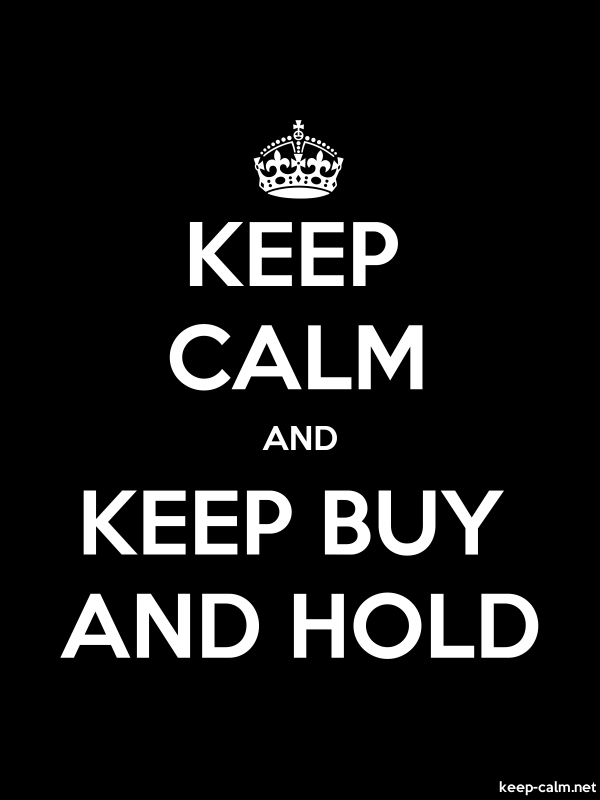 KEEP CALM AND KEEP BUY AND HOLD - white/black - Default (600x800)
