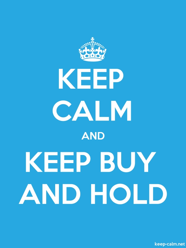 KEEP CALM AND KEEP BUY AND HOLD - white/blue - Default (600x800)