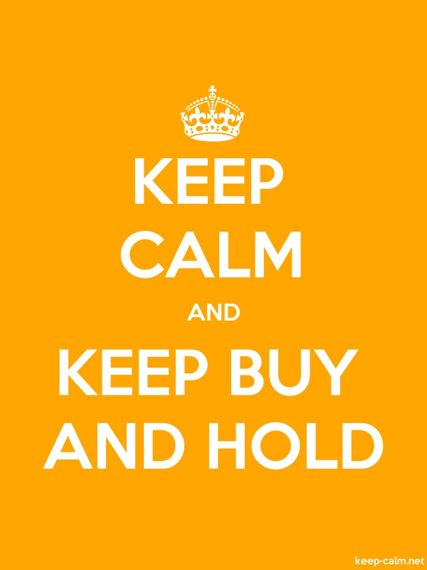 KEEP CALM AND KEEP BUY AND HOLD - white/orange - Default (600x800)