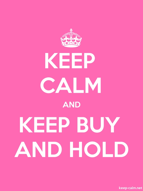 KEEP CALM AND KEEP BUY AND HOLD - white/pink - Default (600x800)