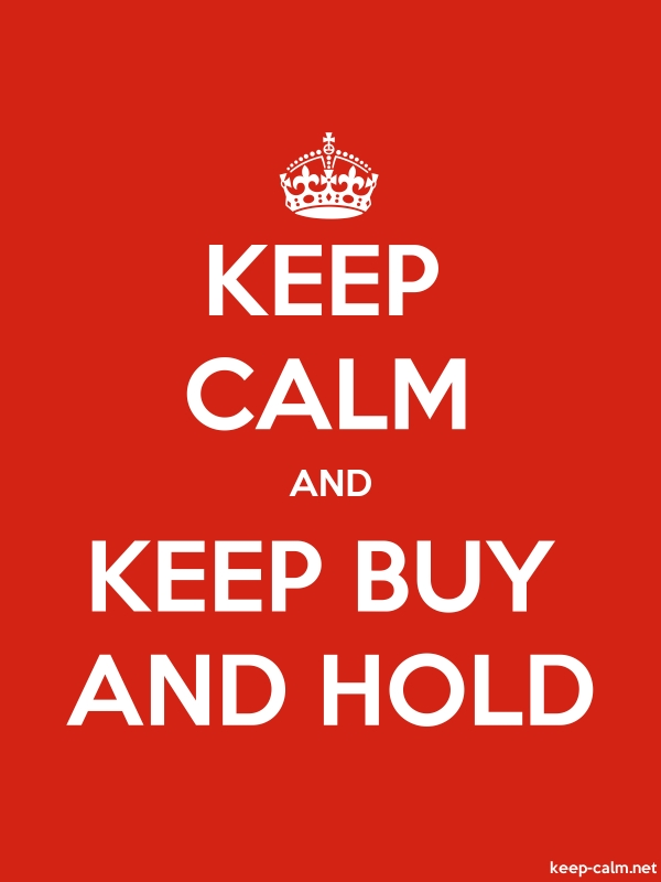 KEEP CALM AND KEEP BUY AND HOLD - white/red - Default (600x800)